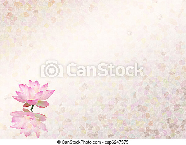 lotus with set of abstract painted background - csp6247575