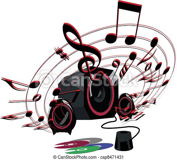 music speakers clipart. vector - loud music speakers clipart t