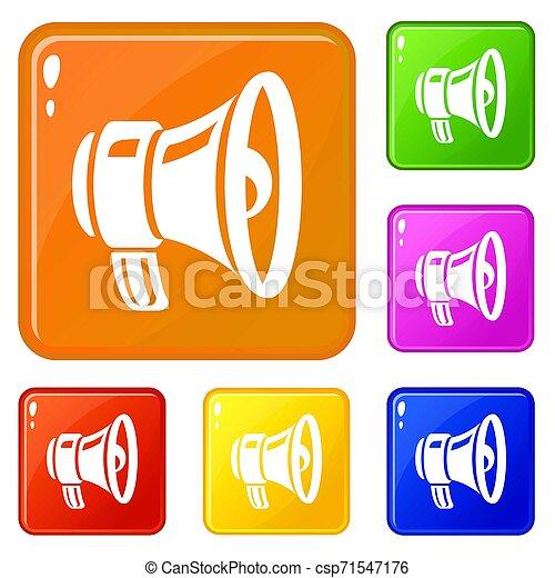 Loud speaker icons set color - csp71547176