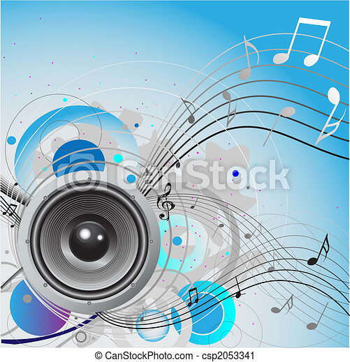 Loudspeaker background - csp2053341
