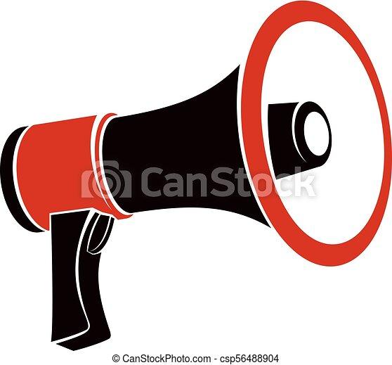 loudspeaker vector illustration isolated on white disinformation idea misleading information concept https www canstockphoto com loudspeaker vector illustration isolated 56488904 html