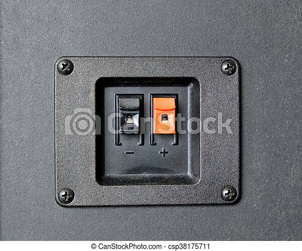 Loudspeaker wire connection port