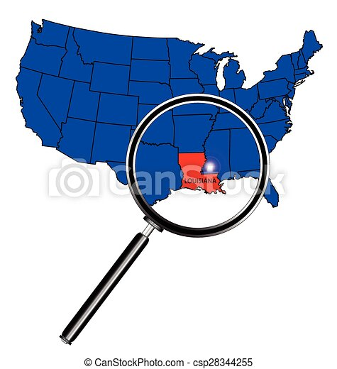 louisiana state outline set into a map of the united states rh canstockphoto com