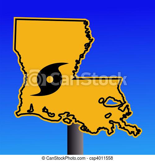 Louisiana warning sign hurricane - csp4011558