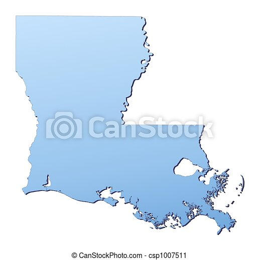 Louisiana Usa Map Filled With Light Blue Gradient High Resolution