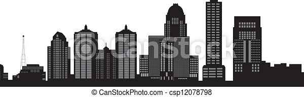 louisville skyline - csp12078798