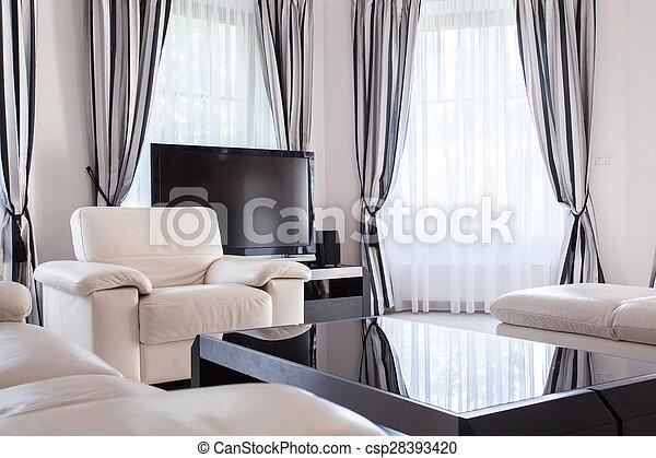 lounge, residência, luxo, projetado - csp28393420