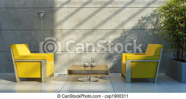 lounge room interior - csp1900311