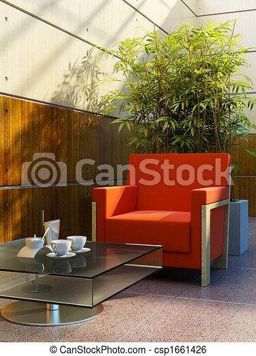 lounge room interior - csp1661426