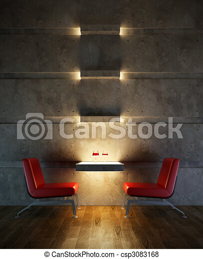 lounge room interior - csp3083168