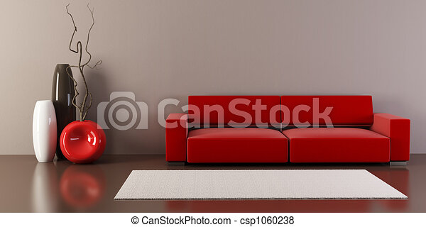 lounge room with couch and vases - csp1060238