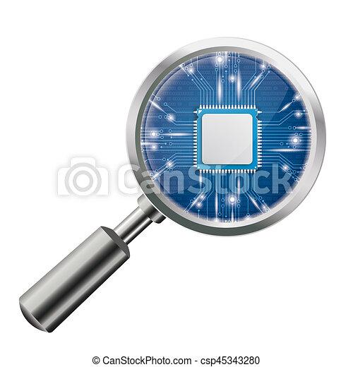 Loupe Blue Microchip - csp45343280