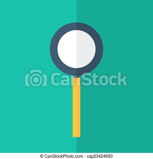 Loupe icon over green - csp23424650