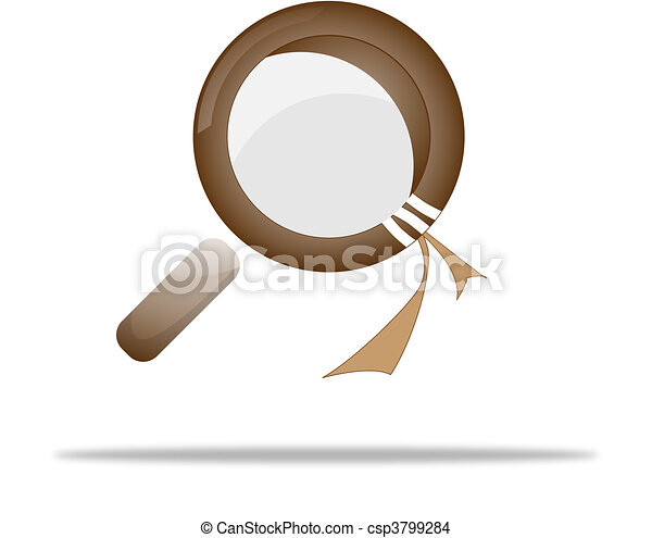 loupe, magnifying glass on white - csp3799284