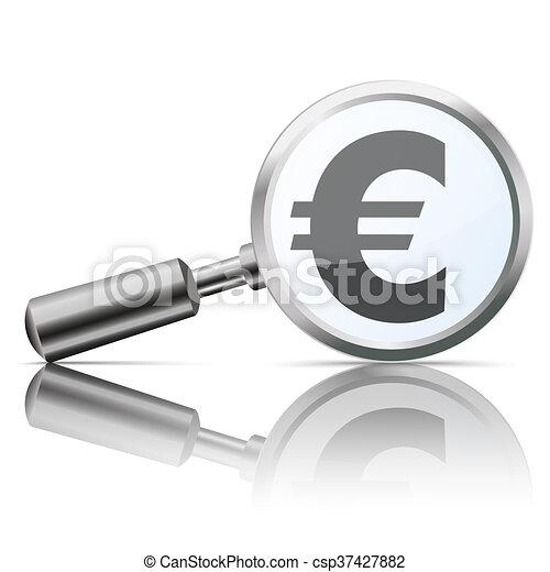 Loupe Mirror Euro - csp37427882