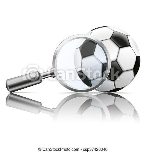 Loupe Mirror Football - csp37428048