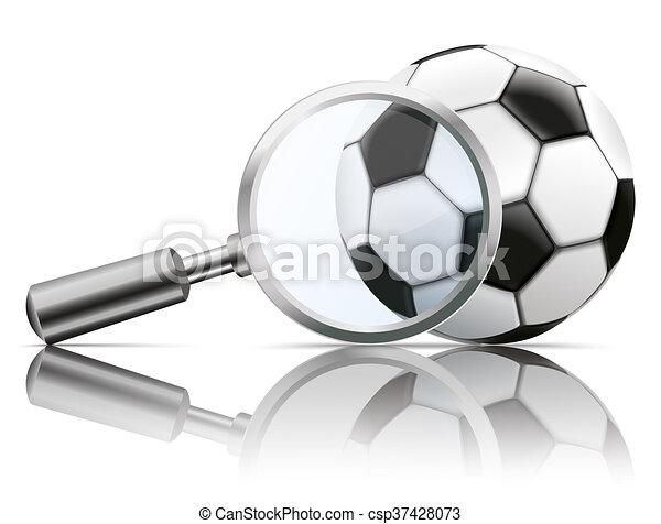 Loupe Mirror Football - csp37428073