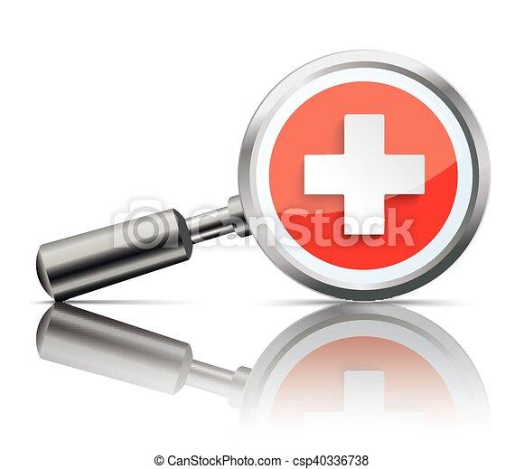 Loupe Mirror Health Hospital - csp40336738