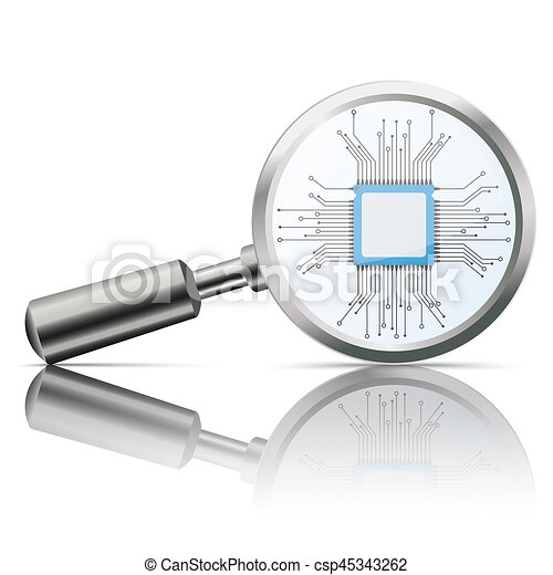 Loupe Mirror Microchip - csp45343262