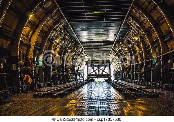 lourd, avion cargaison, poids - csp17857538
