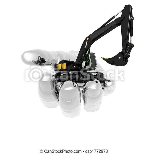 lourd, excavateur - csp1772973