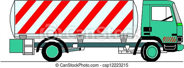 lourd, vecteur, camion - csp12223215