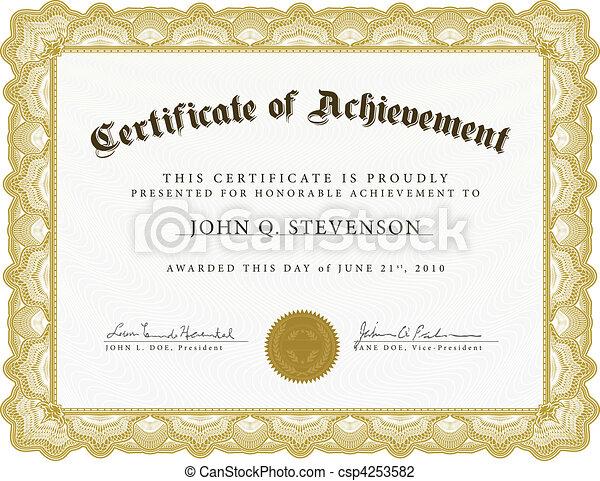 lourd, vecteur, frontière, certificat - csp4253582