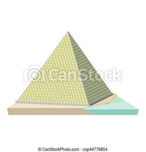 Louvre pyramid icon, cartoon style - csp44776854