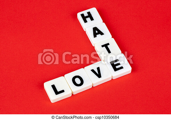 love and hate - csp10350684