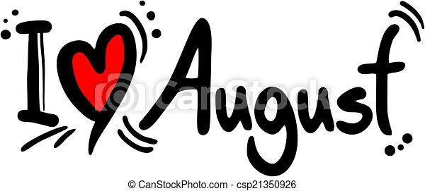 love august - csp21350926