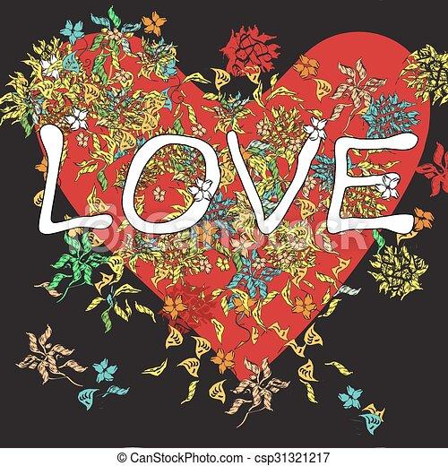 Love Background On Black - csp31321217