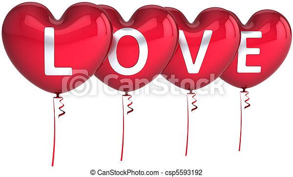 Love balloons heart shaped heart balloons colored red decorated love balloons heart shaped csp5593192 m4hsunfo