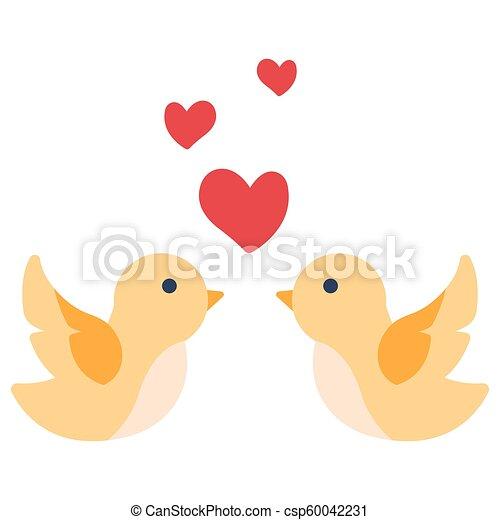 Love bird flat illustration - csp60042231