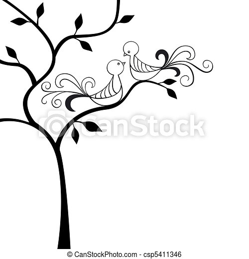 silhouette tree with two love birds clip art vector search rh canstockphoto com free clipart images love birds free clipart love birds