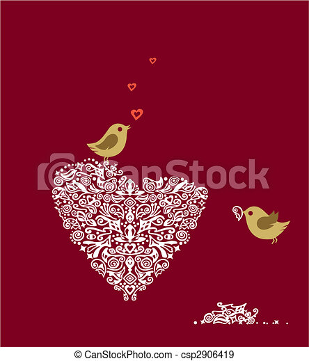 Love birds - csp2906419