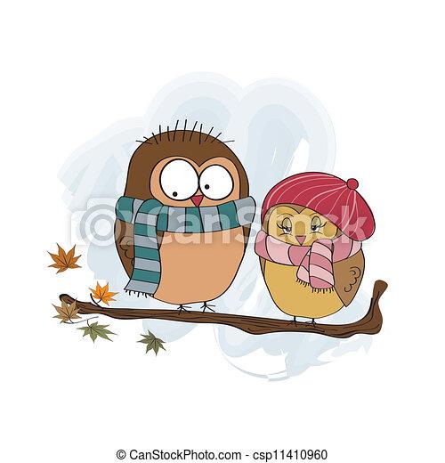 Love birds on the branch - csp11410960