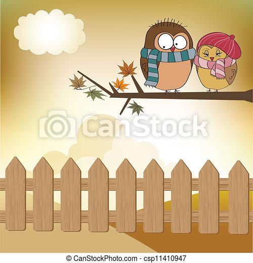 Love birds on the branch - csp11410947