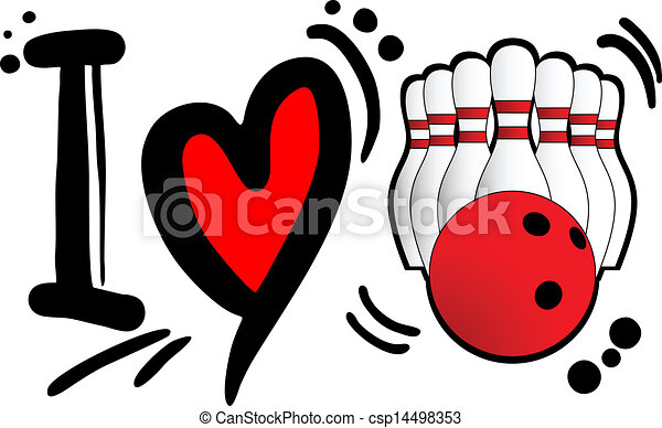 love bowling creative designof love bowling rh canstockphoto com funny bowling pictures clip art Crazy Bowling Clip Art