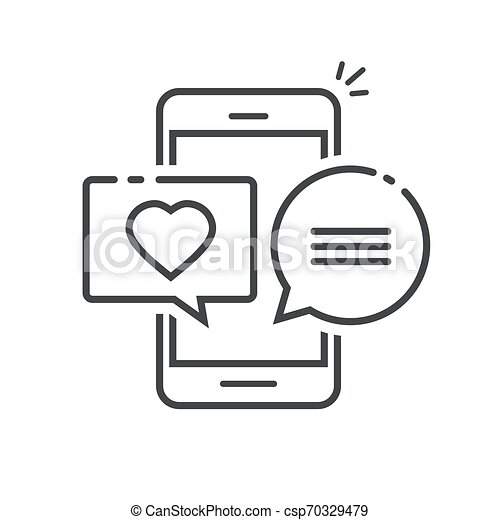Love chat message in mobile phone screen vector