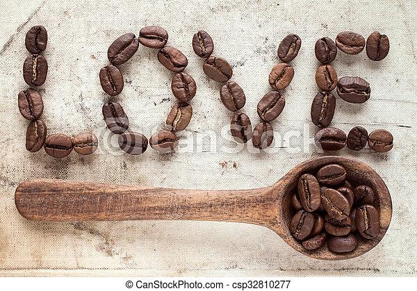 Love coffee concept - csp32810277
