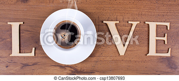 Love Coffee - csp13807693