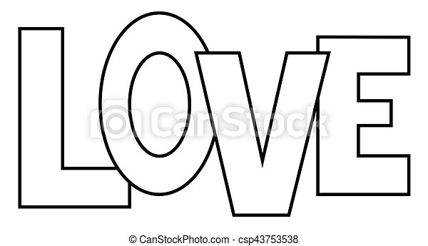 Love Coloring Page - csp43753538