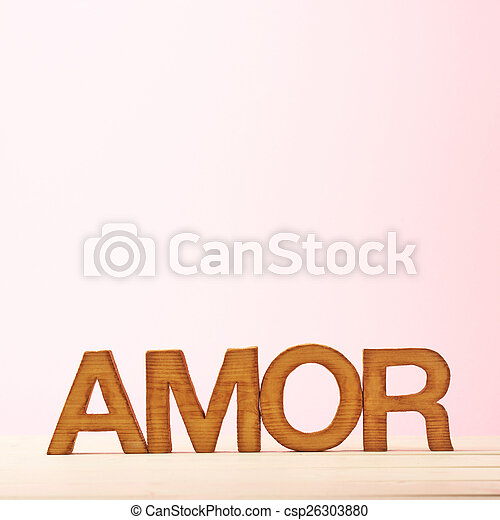 Love composition of letters - csp26303880