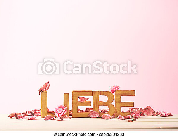 Love composition of letters - csp26304283