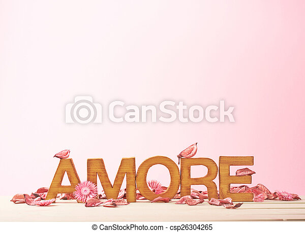 Love composition of letters - csp26304265