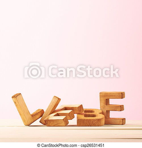 Love composition of letters - csp26531451