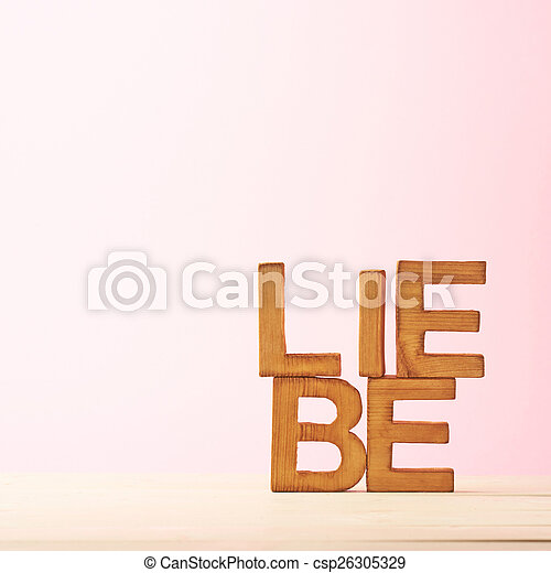 Love composition of letters - csp26305329