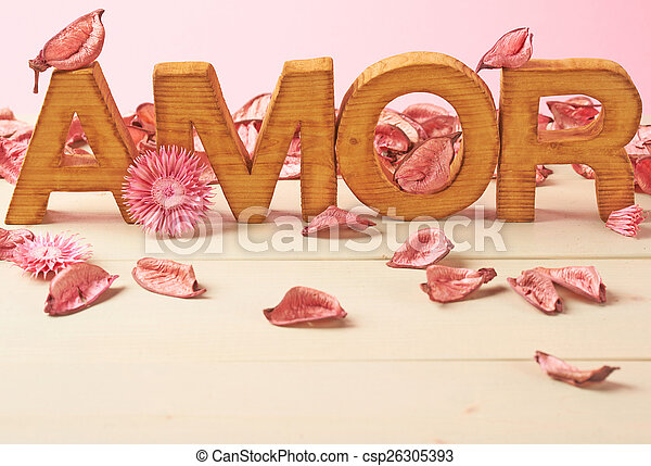 Love composition of letters - csp26305393