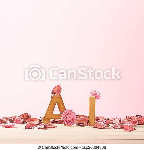 Love composition of letters - csp26304306