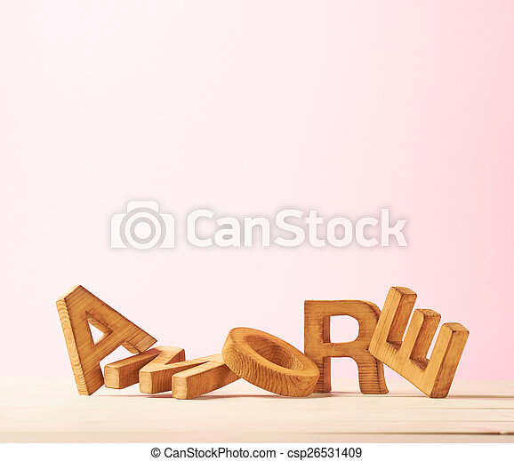Love composition of letters - csp26531409